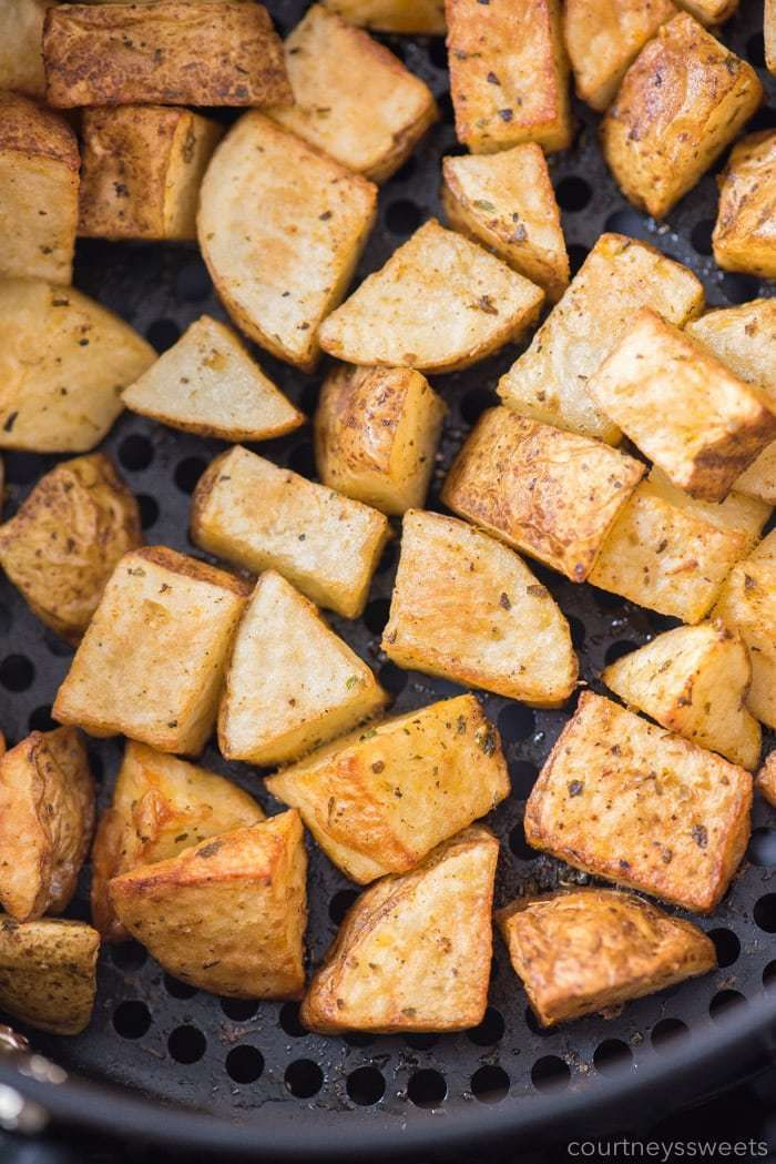 Air Fryer Roasted Potatoes Roasted potatoes, Air frier