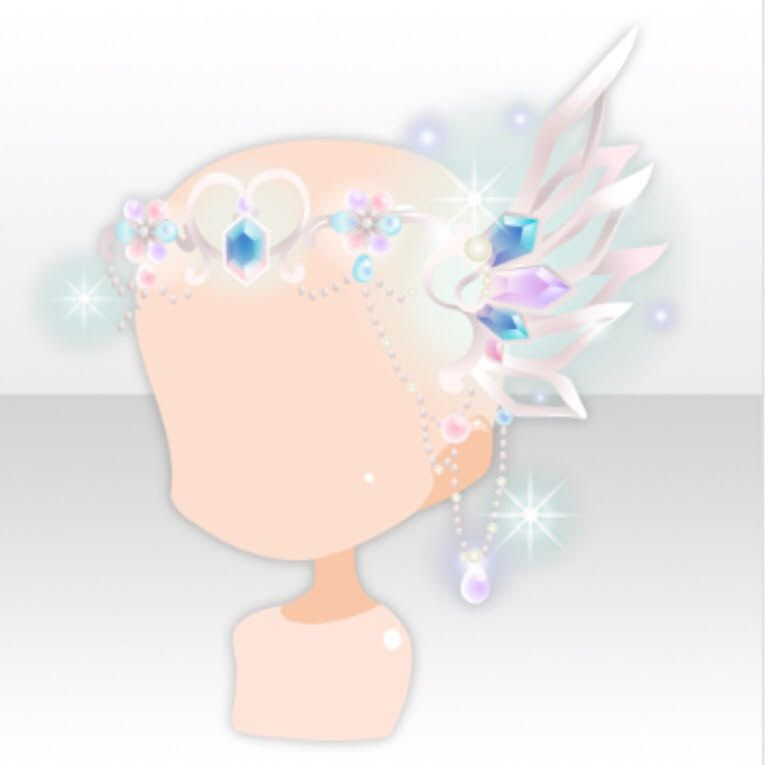 Feather Jewelry On Hair Accessory Ver A White Anime Accessories Anime Outfits Fashion Games For Girls