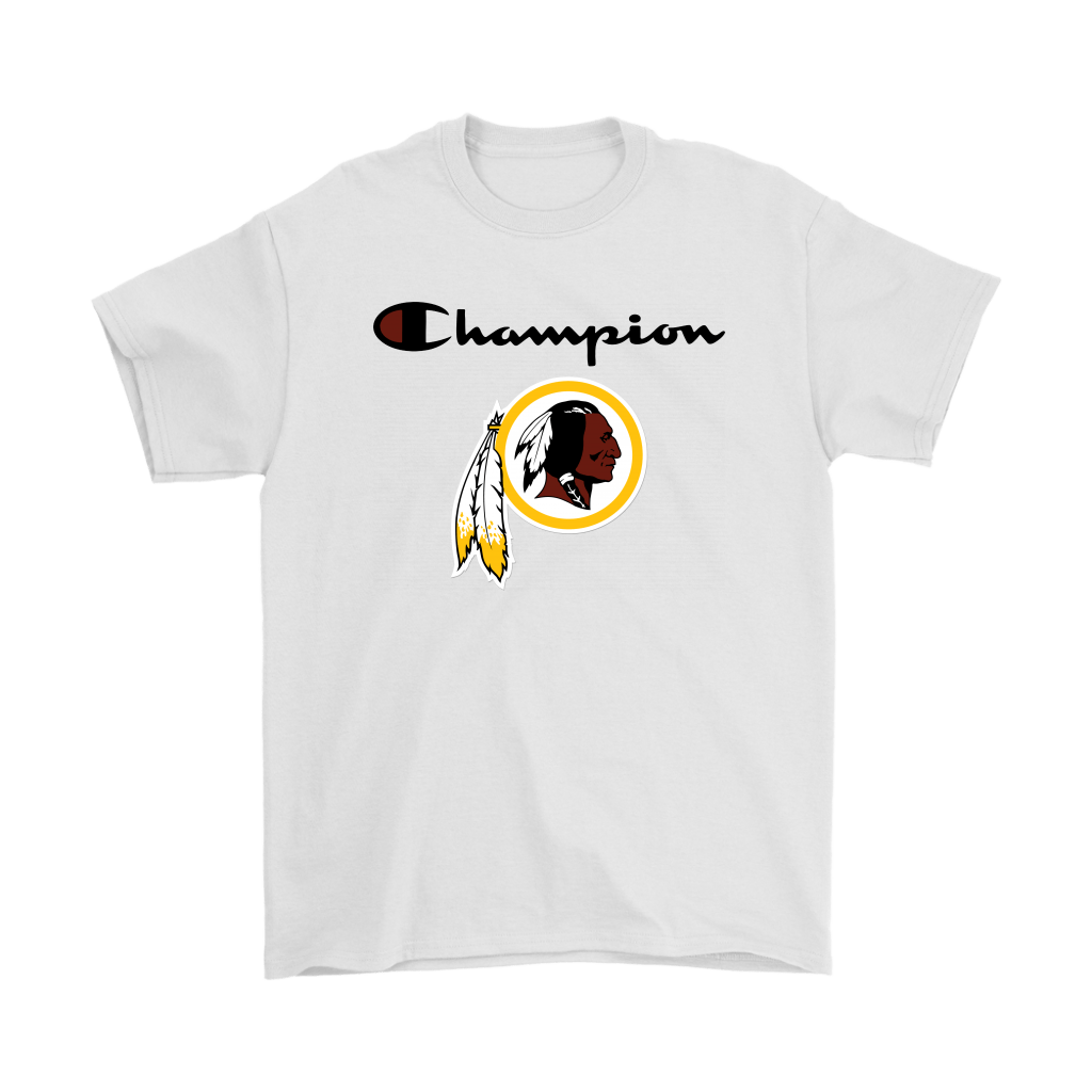 Washington Redskins & Champion Logo Mashup NFL Shirts in