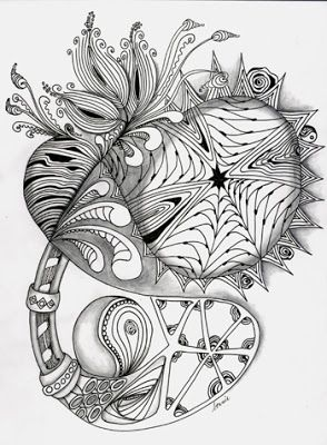 Love Light and Peace: Zen Tangle