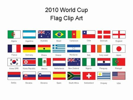 World Cup 2014 Flag Images and names of the u00272010 World Cup - foot ball square template