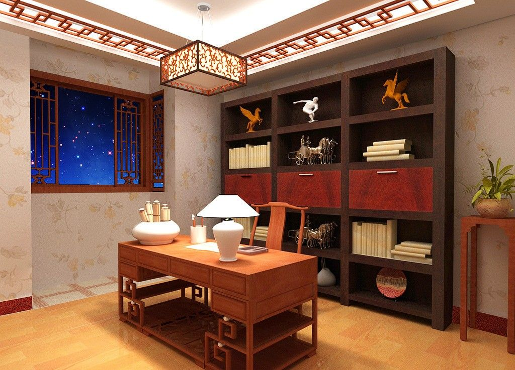 Oriental Chinese Interior Design Asian Inspired Study Room Home Decor