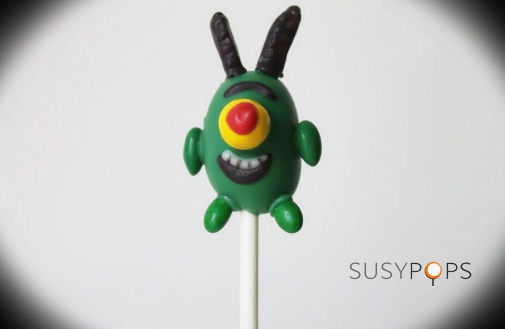 SPONGEBOB\'s Sheldon Plankton cake pops | SpongeBob cake pops by ...