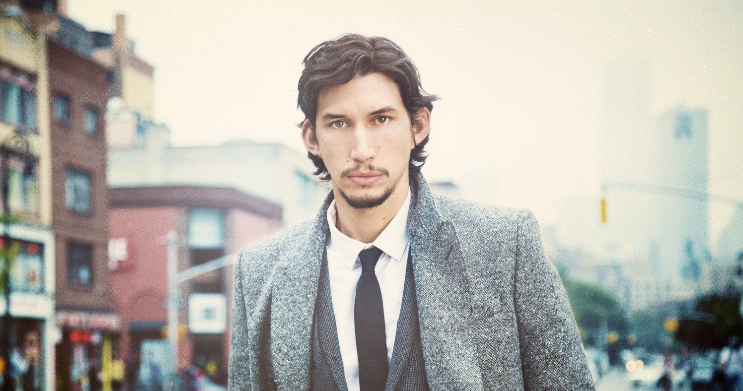 Girls' Star Adam Driver Wears Hermès Scarf and Garters For FlauntMagazine