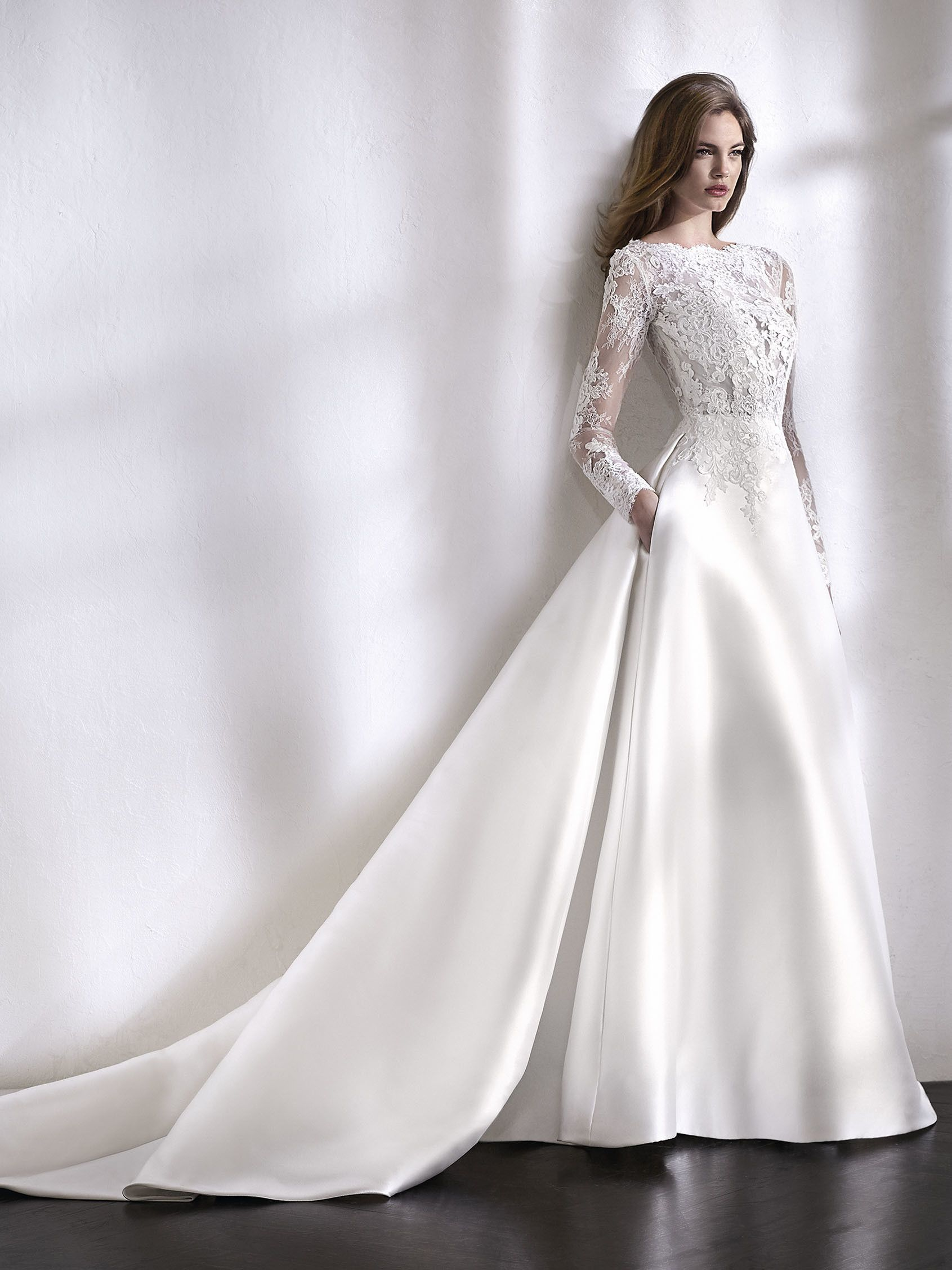 Sophisticated and very classy. A ballgown wedding dress with a ...