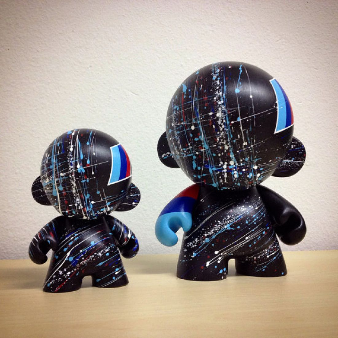 4inch 7inch Motorsport Munny hand painted by emKel