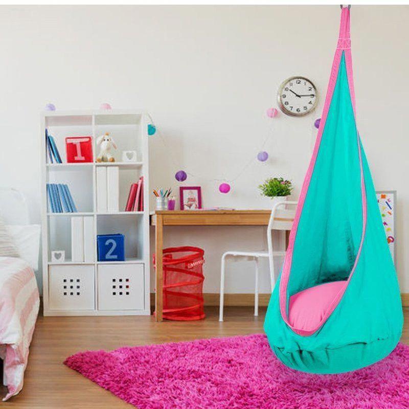 Iddings Kid S Hanging Pod Hammock Swing Chair In 2020 Hammock Swing Chair Swinging Chair Bedroom Swing