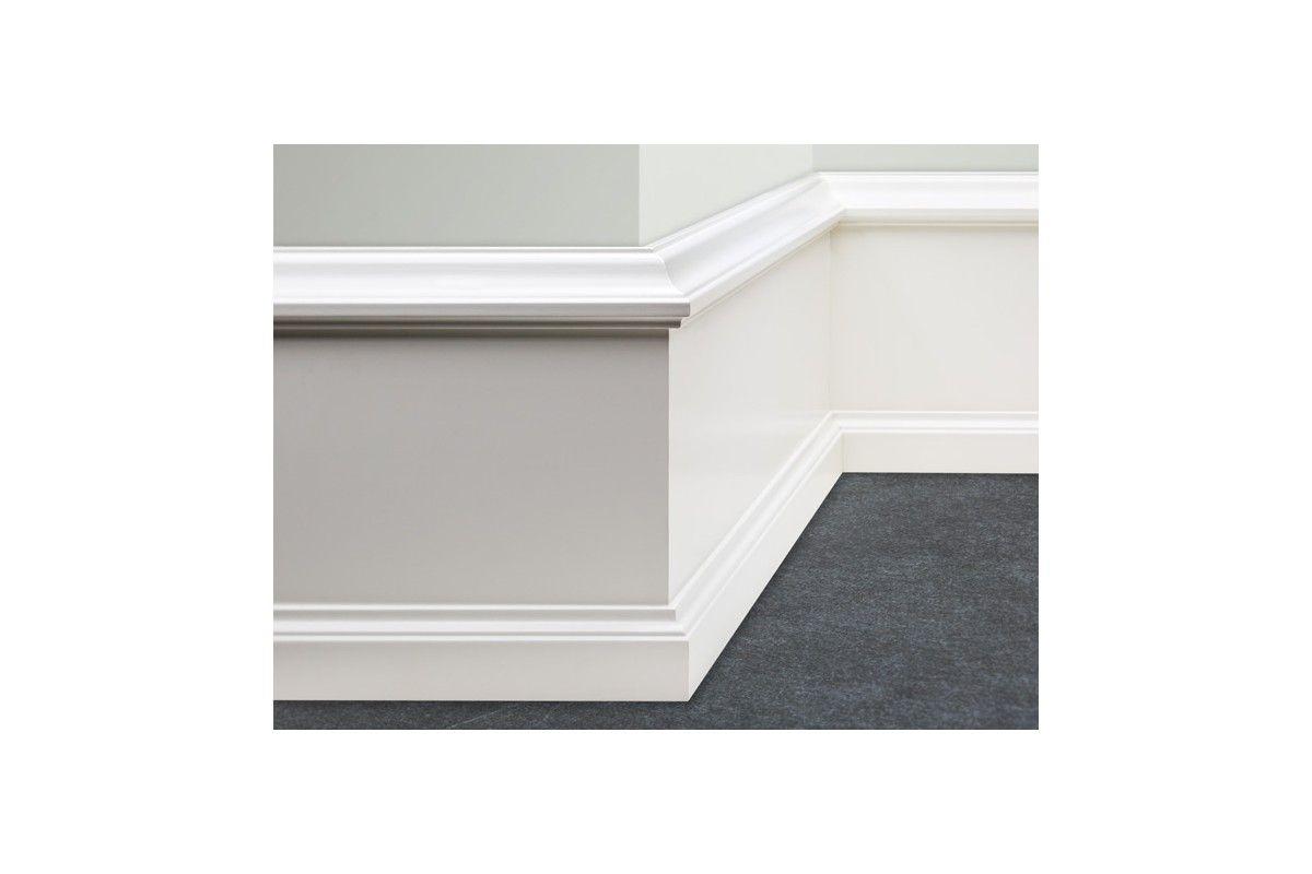Plinthe Mdf Dans Salle De Bain ~ plinthe classique 3 l ments bois dur mdf blanc 200 275 x 27 mm