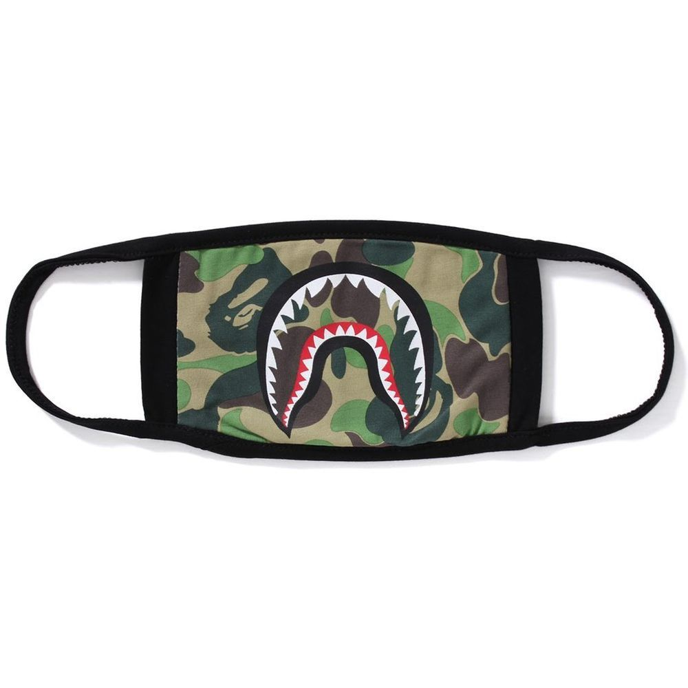 Download Free A Bathing Ape Shark Mask Abc Camo Black 100 Authentic Nwt Mouth Mask Abathingape A Bathing Ape Bape Camping First Aid Kit PSD Mockup Template