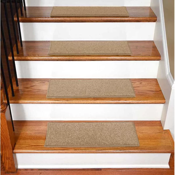 Best Bazemore Solid Color Non Slip Rubber Backed Stair Tread In 400 x 300