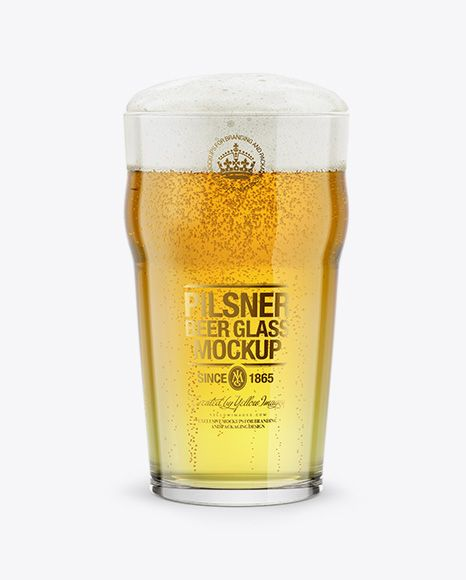 Pilsner Beer Glass Mockup In Cup Bowl Mockups On Yellow Images Object Mockups Mockup Free Psd Free Psd Mockups Templates Pilsner Beer