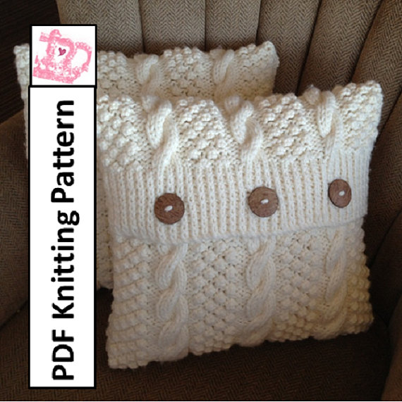 Cable Knit Pillow Pattern Free : Best 25+ Knitted cushion pattern ideas on Pinterest Knitted cushions, Knitt...