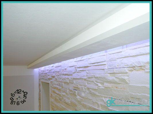 Lichtvoute mit Schattenfuge aus Gipskarton Gips+karton arańżacje - decke styroporplatten schnell sauber preiswert