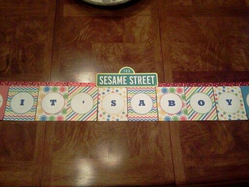 Sesame street banner...so easy!