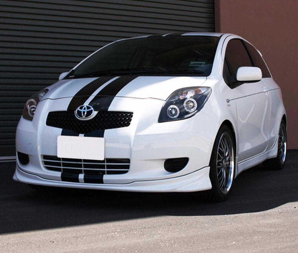 Stripe kit sticker decal for toyota yaris vitz ts rs front light bumper grille ultimateprocy