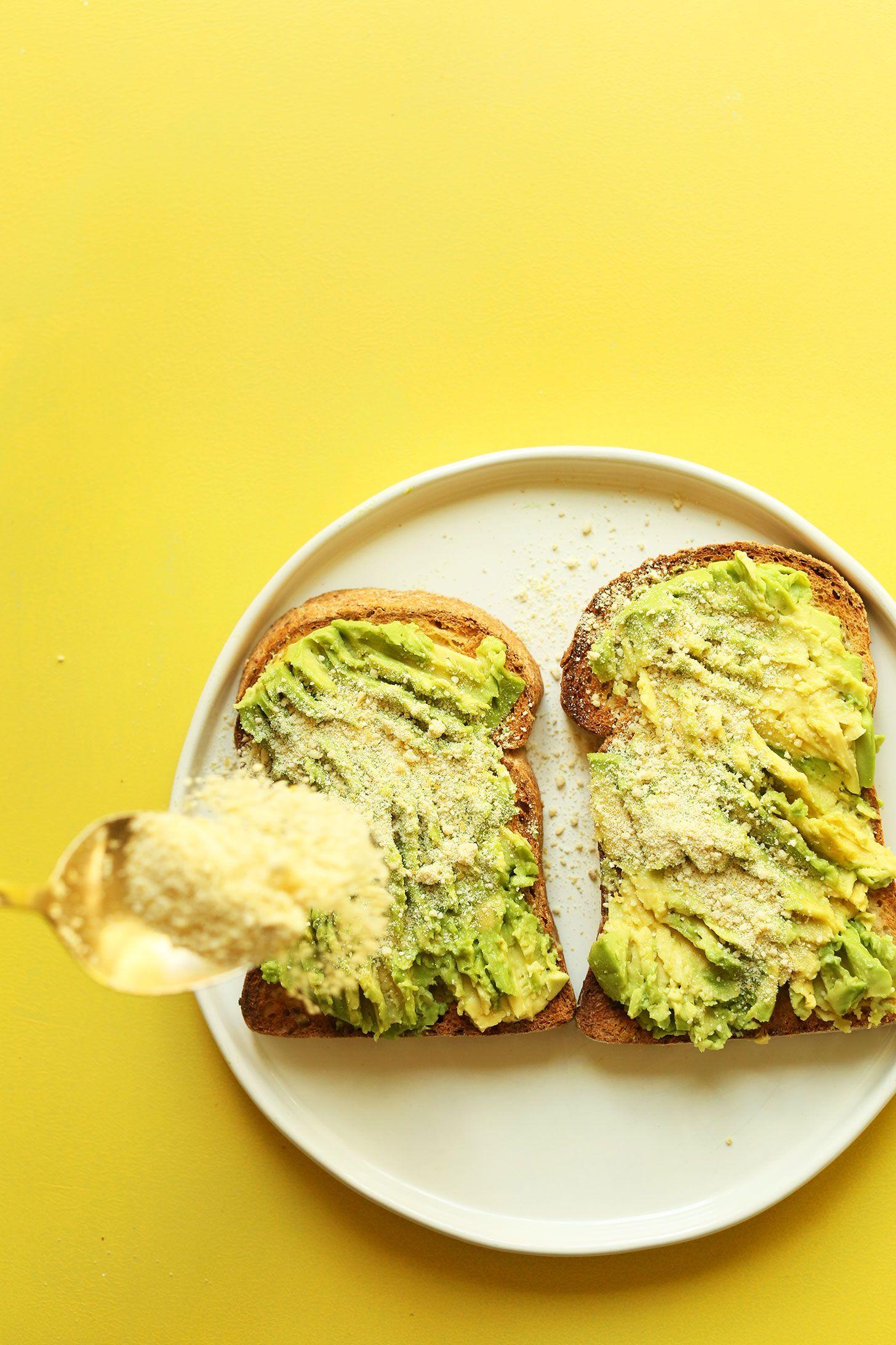 My GO-TO Avocado Toast! 5 minutes, 3 ingredients, SO delicious! #vegan #glutenfree #avocado #recipe #easy