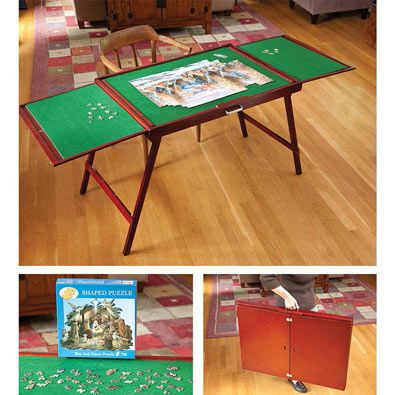 Fold And Go Wooden Jigsaw Table A Must Have For Puzzlers Jigsaw Table Woodworking Jigsaw Wooden Jigsaw