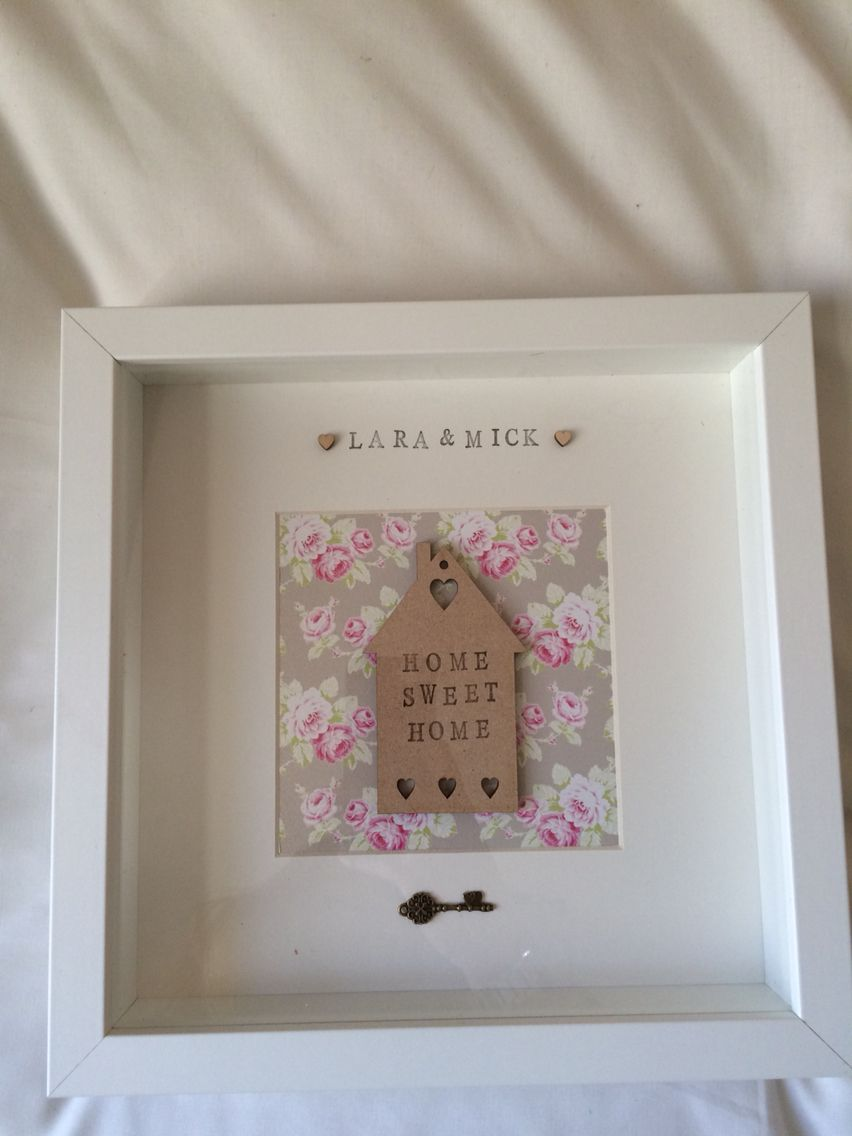 Home interiors and gifts framed art - Personalised New Home Frame