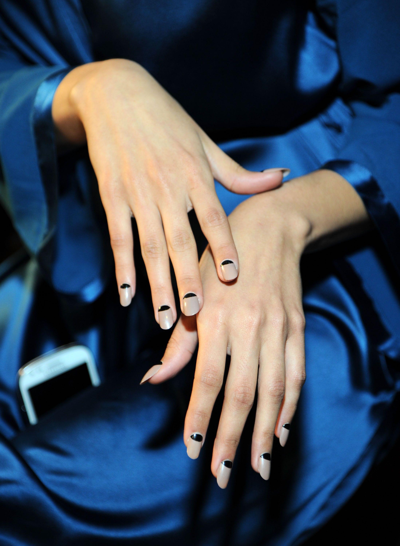 Geometric Nail Art   Geometric nail art, Makeup trends and Nude nails