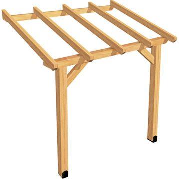 appenti en bois auvent 1 pan 3 m storage shed. Black Bedroom Furniture Sets. Home Design Ideas