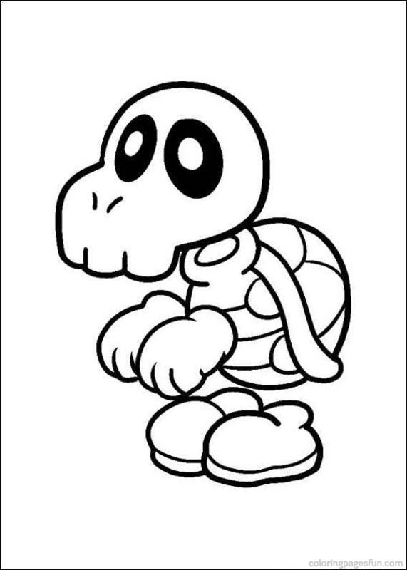 Super Mario Bros Coloring Pages 12 | dibujos blanco negro para ...