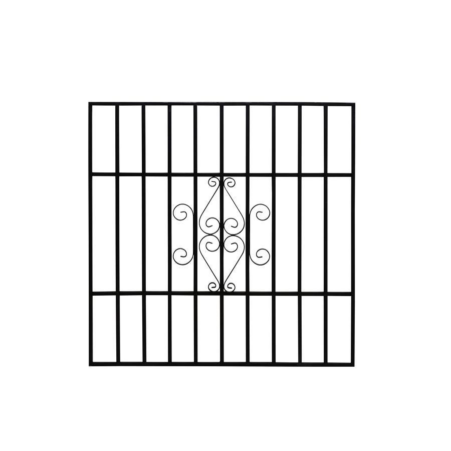 Gatehouse 36 In X 36 In Black Magnum Window Security Bar Lowes Com In 2020 Window Security Bars Window Security Window Bars
