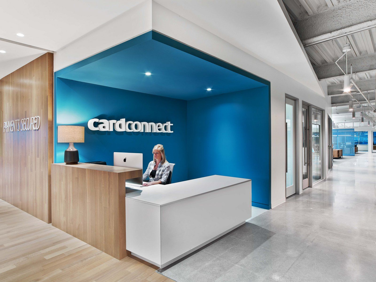 Office Tour Cardconnect Offices King Of Prussia Corporate Office Design Office Reception Design Reception Desk Design