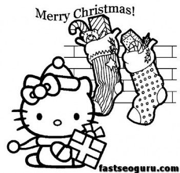 Printbale Coloring Pages Christmas Hello Kitty Printable Coloring Pages For Kids Hello Kitty Colouring Pages Hello Kitty Coloring Kitty Coloring