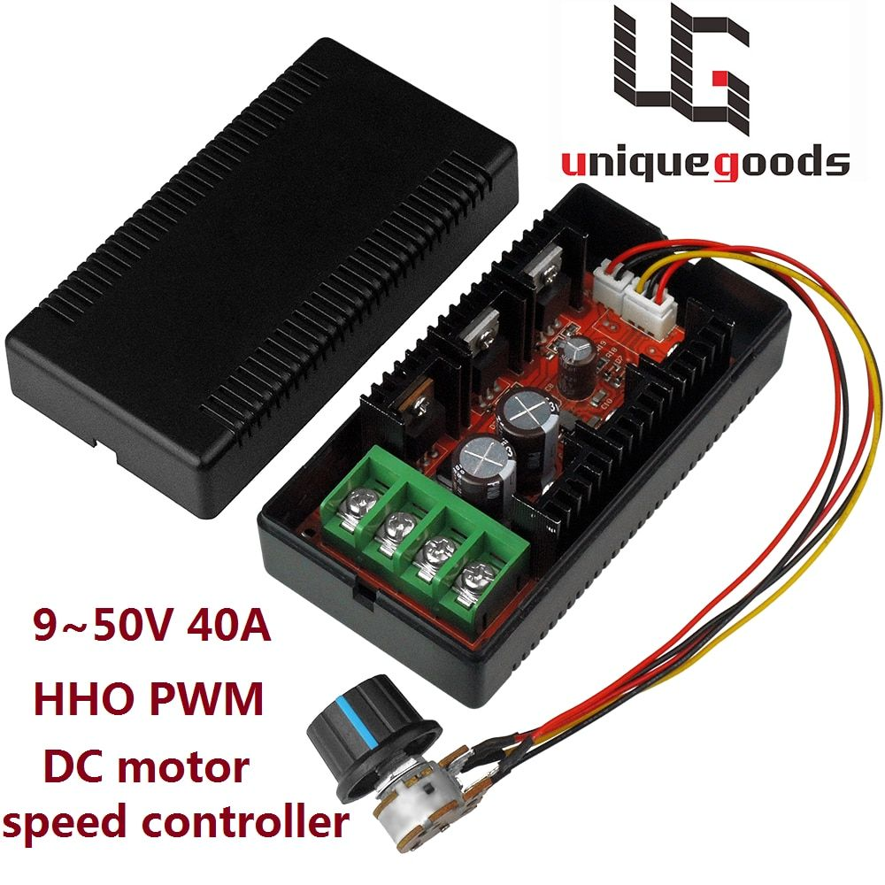 2000W 12V 24V 48V MAX 40A DC Motor Speed Controller PWM HHO RC Regulator