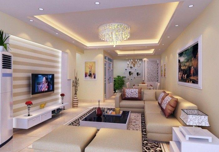 Schon Farbgestaltung Wohnzimmer Moderne Weiße Schön Dekorierte Wände