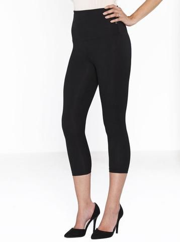 4deac8f69c199 Postpartum Tummy Control Capri Built-In Shaping 3/4 Legging, $49.95. Wear  with flats in the day or team with heels for a night out post baby delivery!