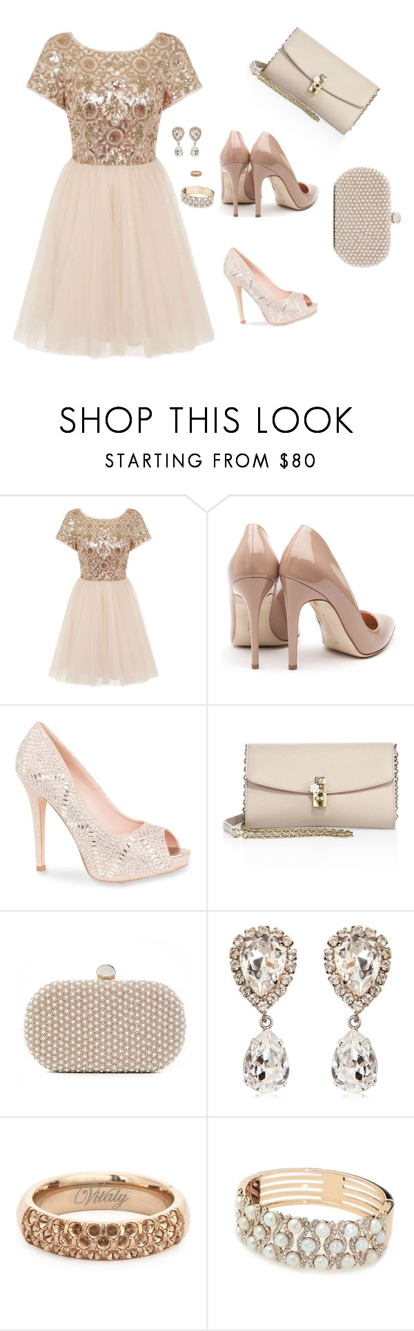"""""""Untitled #580"""" by psoto-1 ❤ liked on Polyvore featuring Chi Chi, Rupert Sanderson, Lauren Lorraine, Dolce&Gabbana and Santi"""