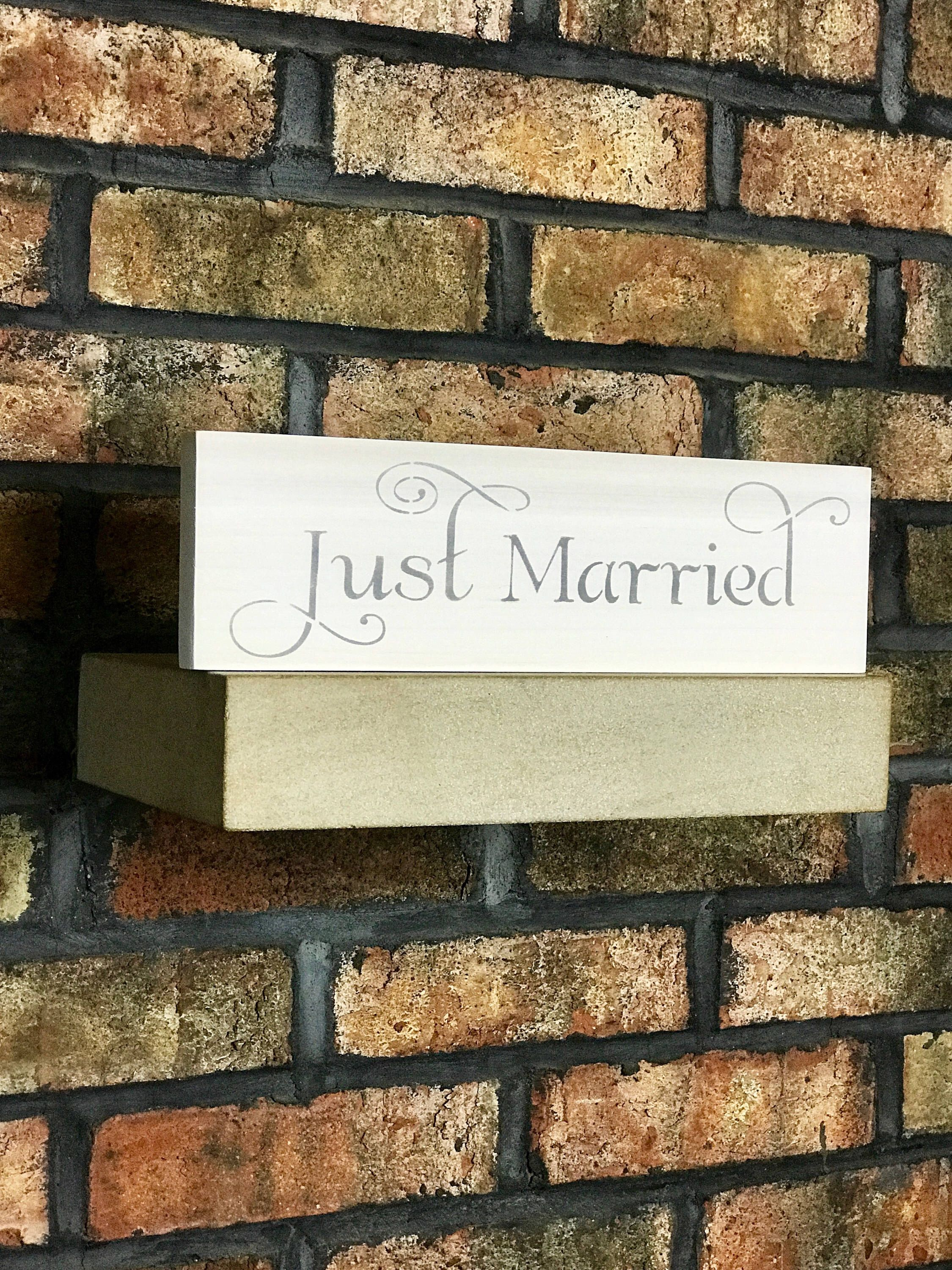 Just Married/Wedding Gift/Wedding/Wedding Signs/Home Decor/Wood ...