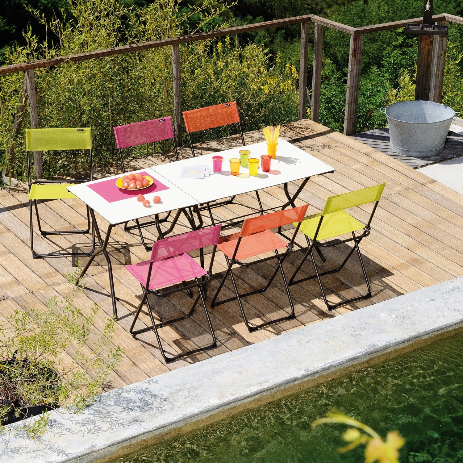 Anytime Folding Table Rectangle by Lafuma YLiving