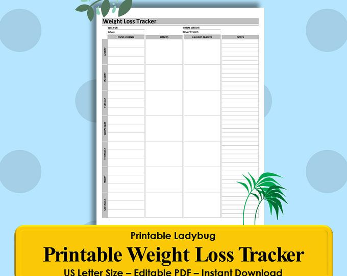 Weight Loss Tracker, Weight Loss Log, Fitness Tracker, Health - sales lead tracking spreadsheet