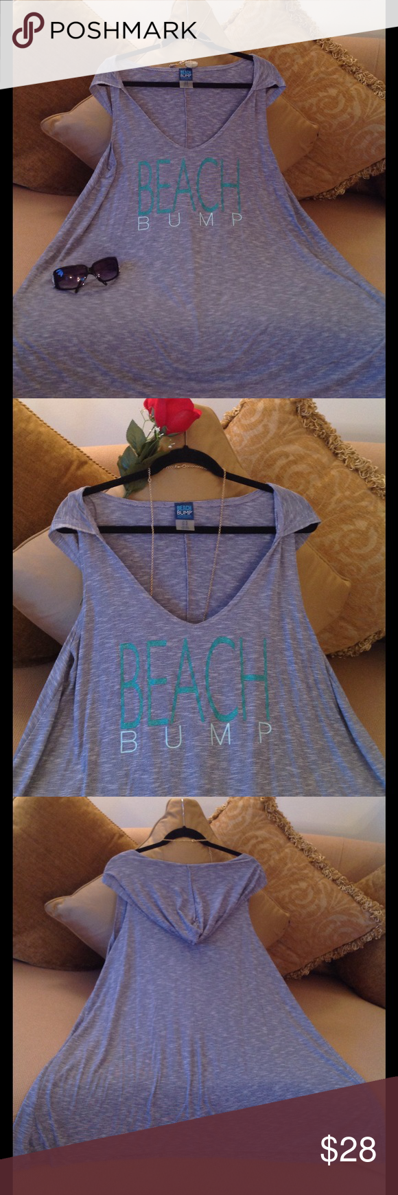 🍃🌹'BEACH BUMP' - By Motherhood Maternity Hoodie Super cute Top by Motherhood Maternity. Size XL. Excellent condition.  Tiny Blue and White stripes.  Very, very gently worn ☺️. No stains or snags.  Not only Perfect for the Beach but super cute with jewelry and Capri's for casual Saturday wear. Price is Firm!! Motherhood Maternity Tops