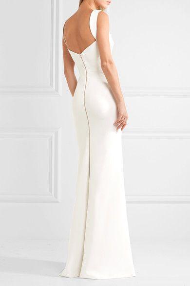 Victoria Beckham Crepe Gown Dress Dresses Victoria Beckham Gowns