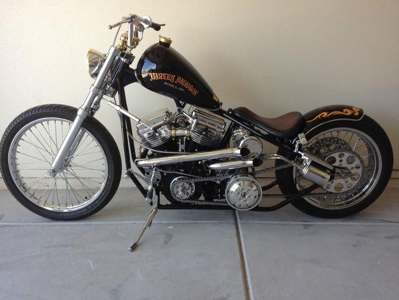 1960 harley davidson flh panhead chopper for sale - rusty knuckles