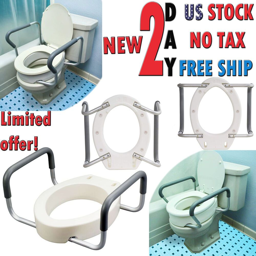 Medic Toilet Seat Elevator Raised Riser Standard Elongated Height