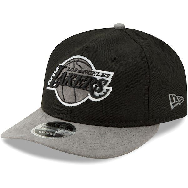 Los Angeles Lakers New Era Tonal Choice 9FIFTY Adjustable Snapback Hat -  Black Gray   5309640330be