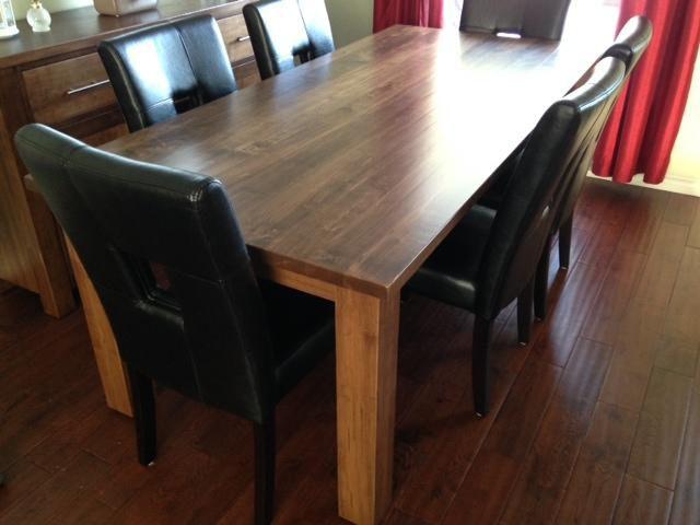 Custom Wormy Maple Table