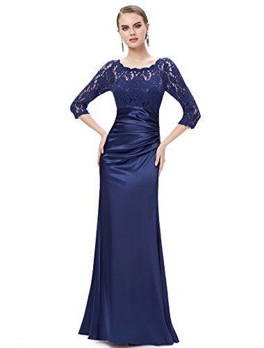 fa122ce91707 Ever Pretty Womens Elegant Lace Long Sleeve Floor Length Evening Dress 4 US  Navy Blue Ever
