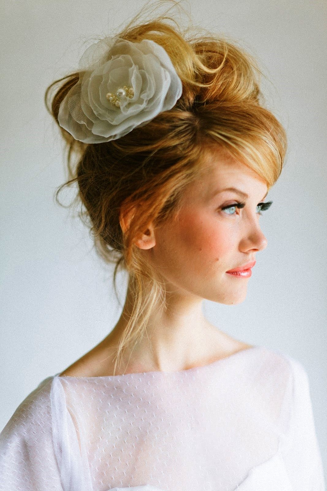 wedding hairstyles for medium length hair with bangs ...