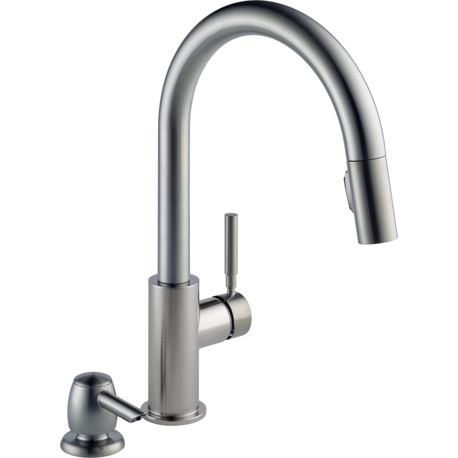 Shop Delta Trask Stainless Steel 1 Handle Pull Down Kitchen Faucet