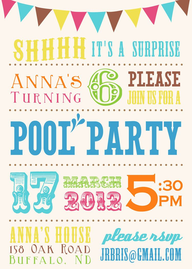 Printable Surprise Birthday Party Invitation 5x7 by seedtosprout ...