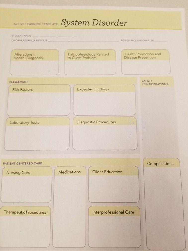 The Nursing Plan Learning Template Nursing Care Nurse