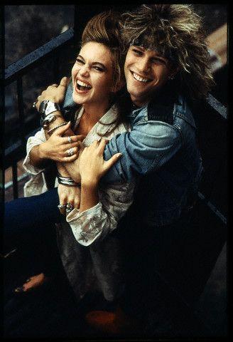 Jon Bon Jovi and Diane Lane. Never seen this photo of them before ...