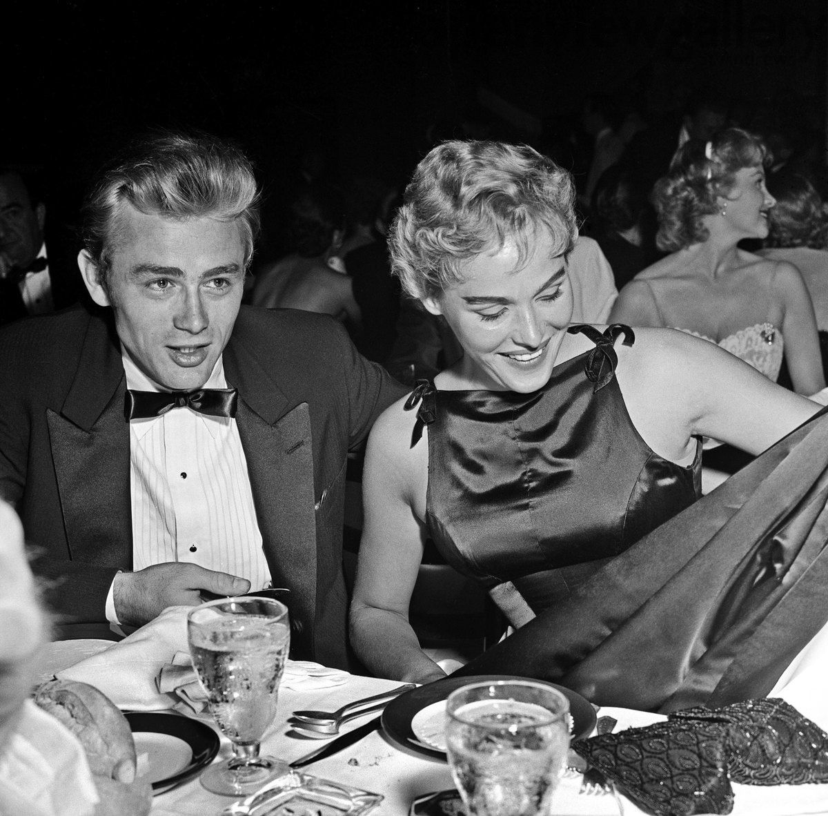 James Dean & Ursula Andress at Ciro's 1st September 1955 (He died on the 30 Sept 1955)