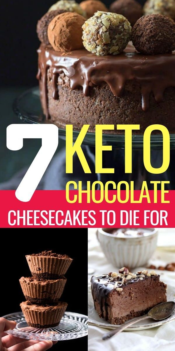 7 Keto Chocolate Cheesecakes To Die For #health #fitness #nutrition #recipes #keto #diet