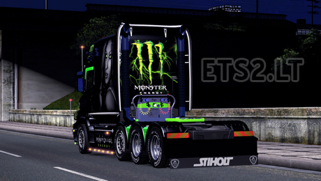 Euro Truck Simulator 2 Scania T Monster Energy Skin | euro